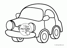 small city car coloring page for kids transportation coloring