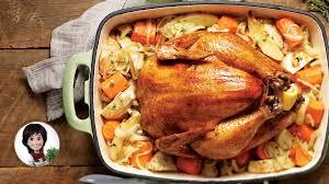 cuisiner un poulet entier poulet rôti et légumes d hiver recettes iga