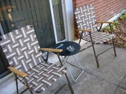 can you bring folding chair with side table for camping