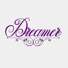 hand lettering of the word dreamer sketched letters which i