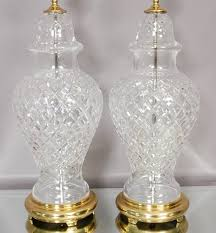waterford crystal l base vintage living room with cuts waterford crystal table ls