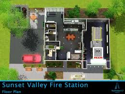fire station floor plans design mod the sims sunset valley fire station