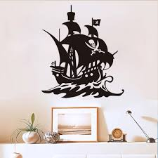 compare prices on pirate wall murals online shopping buy low pirate ship funny vinyl wall stickers for kids rooms self adhesive boat wall paper living room