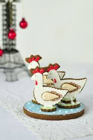 the twelve days of christmas cookie project three french hens