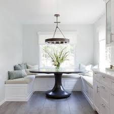 banquette with round table u shaped banquette design ideas