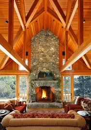 fireplace hearth ideas family room rustic with adirondack antler