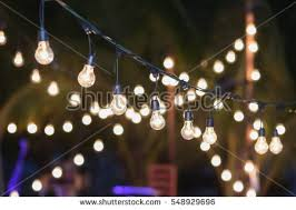 hanging decorative lights wedding partysoft focus stock photo