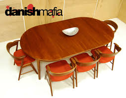 Mid Century Modern Dining Table Mid Century Danish Modern Oval Teak Dining Table W 2 Leaves