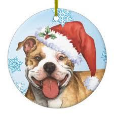 pit bull ornament zazzle