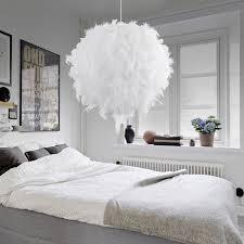 suspension pour chambre 45cm le de plume éclairage suspension lustre balle décoration