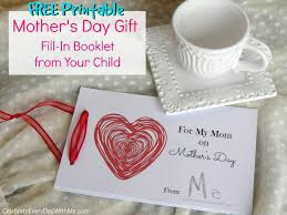 mother u0027s day gift a free fill in booklet from your child