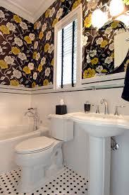 Bathroom Wall Stencil Ideas Bathroom Wall Stencil Ideas Bathroom Eclectic With Yellow Double