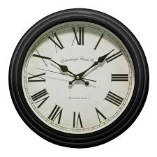 premier housewares traditional wall clock black amazon co uk