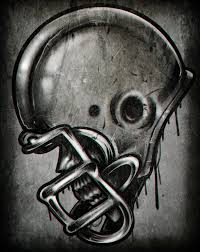 how to draw a football helmet step by step skulls pop culture