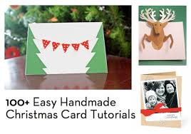 100 easy homemade christmas card tutorials curbly