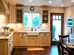 decor farmhouse sink and tile backsplash with kitchen cabinets