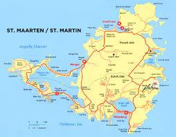 map of st martin villa plateau st maarten directions