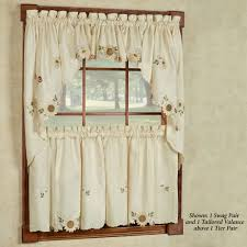 awesome valance curtains for kitchen including decor wonderful