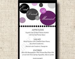 menu design for dinner party printable menu card for wedding shower dinner party custom