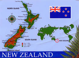New Zealand New Flag World Come To My Home 0975 New Zealand The Map And The Flag
