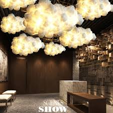 aliexpress buy white clouds hanging lights cotton floating