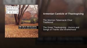 armenian canticle of thanksgiving