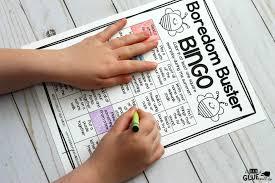 boredom buster bingo for summer a dab of glue will do