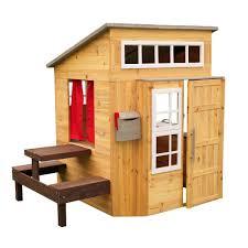 kidkraft modern outdoor playhouse outdoor playhouses design and