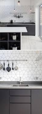 Best  White Kitchen Backsplash Ideas That You Will Like On - Black and white kitchen backsplash