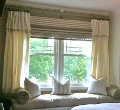 Double Curtain Rod Interior Design by Home Accessories Exciting Bay Window Curtain Rod With Red Sheer