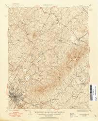 Map Of Charlottesville Va Virginia Historical Topographic Maps Perry Castañeda Map