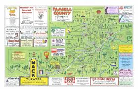 map of oregon wineries maps usa