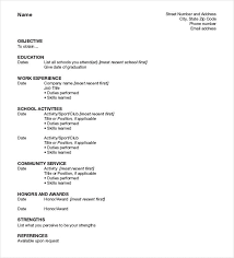 the resume format a resume format my
