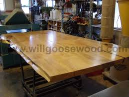 Maple Dining Room Set by Natural Maple Slab Tables Natural Edge Live Edge Live Edge Slab