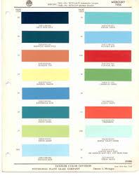 paint chips 1956 mercury