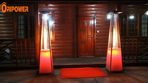 Pyramid Gas Patio Heaters by Led Patio Heater Video Youtube