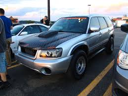 modified subaru forester off road so an ls swapped forester showed up at the subaru meet last night
