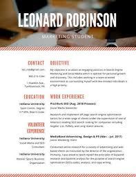 marketing student resume student entry level marketing assistant