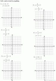 solving system of equations by graphing worksheet photos systems picture