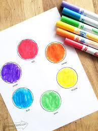 color wheel printables for kids 100 directions