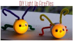 spring craft ideas diy light up fireflies plastic egg animals