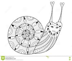 t shirt coloring page vector zentangle snail for coloring pages art therapy stock