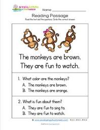 kindergarten reading passage worksheets by subject a wellspring of worksheets