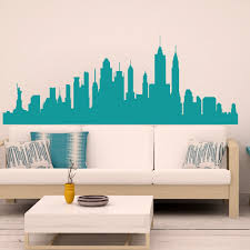 new york city skyline wall decals wall decal new york city aliexpress com buy wall decal new york city nyc skyline cityscape travel vacation destination 3d wall
