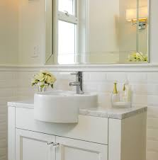 Bathrooms With Subway Tile Ideas by Beveled White Subway Tile Ideas Affordable Beveled White Subway
