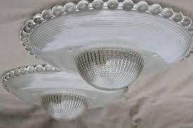 Light Bulb Shades For Ceiling Lights Pair Of Vintage Hobnail Edge Glass L Shades For Ceiling Pendant