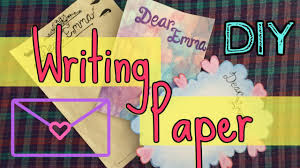 diy writing paper 3 letter design ideas youtube