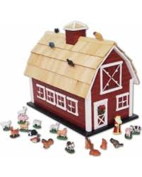 Toy Wooden Barns For Sale Slash Prices On Pine Wood Barn Holiday Advent Calendar Multi