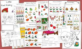 red riding hood educational preschool free printable 17