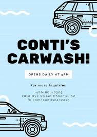 car wash poster templates canva